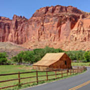 Gifford Homestead Barn - Capitol Reef National Park Poster