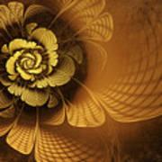 Gilded Flower Poster by John Edwards