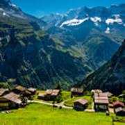 Gimmelwald In Swiss Alps - Switzerland Poster