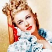 Ginger Rogers By John Springfield Poster