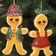 Gingerbread Christmas Ornaments Poster