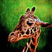 Giraffe Fractal Poster