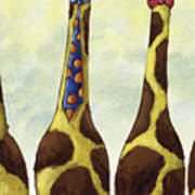 Giraffe Neckties Poster by Christy Beckwith
