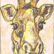 Giraffe Postcard Poster