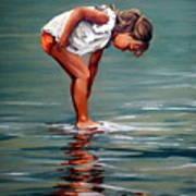 Girl At Shore  Poster