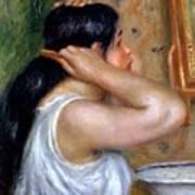 Girl Combing Her Hair Poster