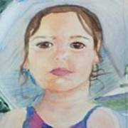 Girl In A Hat Portrait Poster