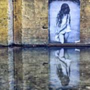 Girl In The Mural Poster