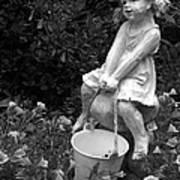 Girl On A Mushroom Poster