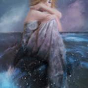 Girl On A Rock Poster by Hazel Billingsley