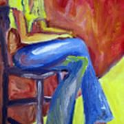 Girl Sitting Poster