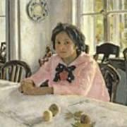 Girl With Peaches Poster by Valentin Aleksandrovich Serov