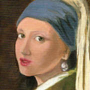Girl With Pearl Earring Of Vermeer Poster