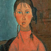 Girl With Pigtails Poster