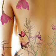 Girl With Spring Tattoo Poster