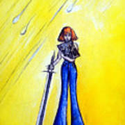 Girl With Sword. Astral Traveler Poster