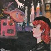 Girl With The Black Beret Poster