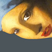 Girl With The Pearl Earring Side Poster