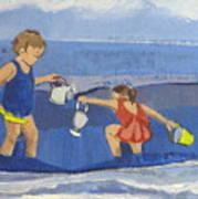 Girls On Beach Poster