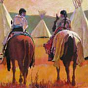 Girls Riding Poster