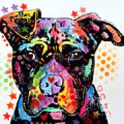 Give Love Pitbull Poster