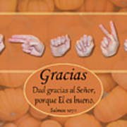 Give Thanks Spanish Poster
