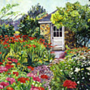 Giverny Gardeners House Poster by David Lloyd Glover