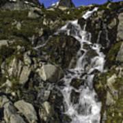 Glacial Waterfall Poster