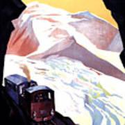 Glacier De Bionnassay, Railway, France Poster