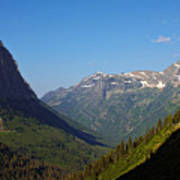 Glacier National Park Mt - View From Going To The Sun Road Poster