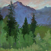 Glacier Nat'l Park - Plein Air -  Rising Wolf Ranch Poster