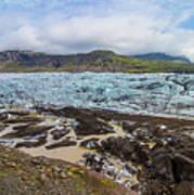 Glacier, Vatnajokull National Park, Iceland Poster