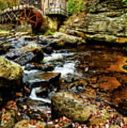 Glade Creek Grist Mill Fall  Poster