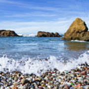 Glass Beach, Fort Bragg California Poster