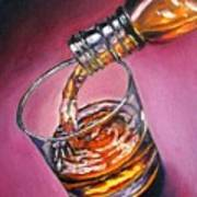 Glass Of Wine Original Oil Painting Poster