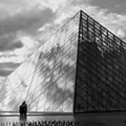 Glass Pyramid. Louvre. Paris.  Poster
