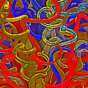 Glass Sculpture A-la Monet  Poster