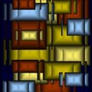 Glass Tile Abstract Poster