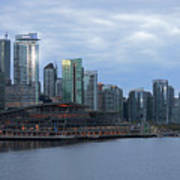 Gleaming Cityscape. Vancouver At Dawn  Poster