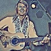 Glen Campbell Abstract Poster