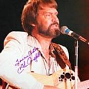 Glen Campbell Autographed Poster Poster