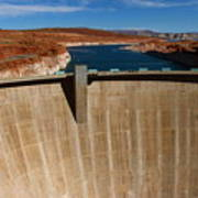 Glen Canyon Dam And Lake Powell Poster