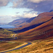 Glen Docharty And Loch Maree Poster