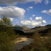 Glen Strontian And The River Strontian Sunart Western Highlands Scotland Poster