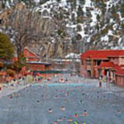 Glenwood Springs Hot Springs In Winter Poster