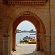 Glimpse Of Gadisar Lake Poster
