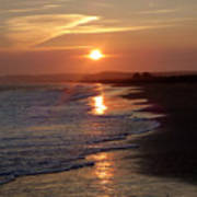 Glistening Ocean Sunset In California Poster