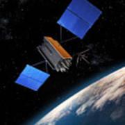Global Positioning System Satellite In Orbit Poster