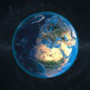 Globe Daynight Europe Poster