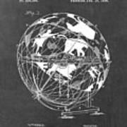 Globe For Astrologers Poster